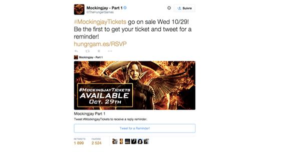 HungerG [Cas pratique] Twitter Cards & secteur de l'entertainment