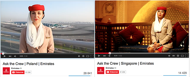 Emirates-ask-the-crew [Cas pratique] Les compagnies aériennes sur le Social Media