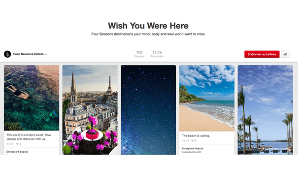 Four-seasons-inspirations Exploiter Pinterest dans le secteur du tourisme