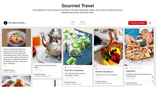 Four-seasons-pinterest-gourmettravel Exploiter Pinterest dans le secteur du tourisme