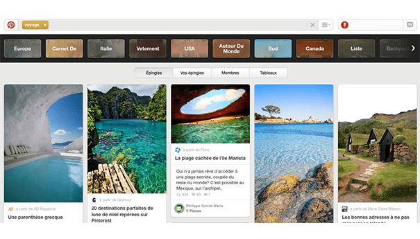 Pinterest-voyages Exploiter Pinterest dans le secteur du tourisme