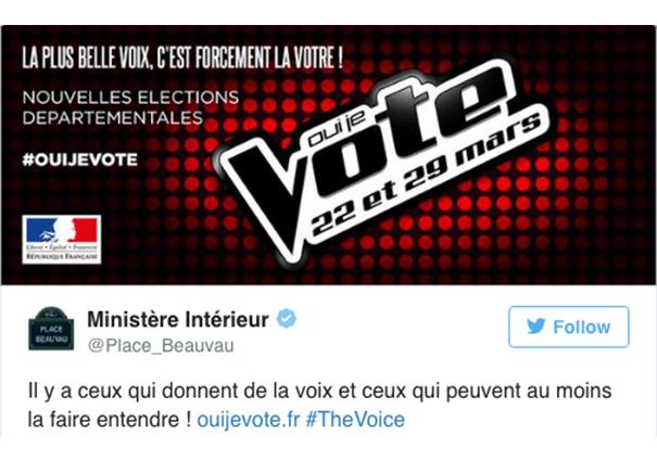 ministere-newsjacking-the-voice La stratégie du gouvernement sur les réseaux sociaux