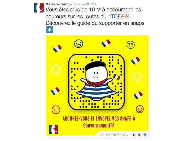 snapchat-gouvernement-social-media La stratégie du gouvernement sur les réseaux sociaux