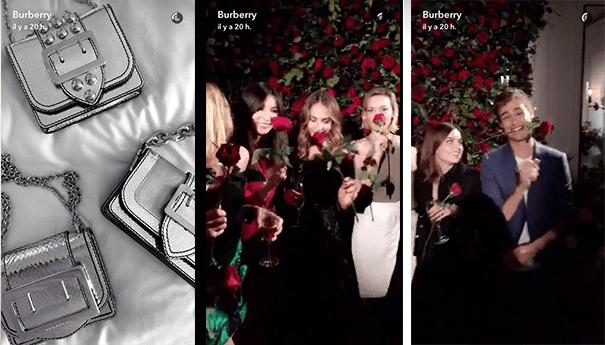burberry-snapchat La stratégie social media des marques de luxe