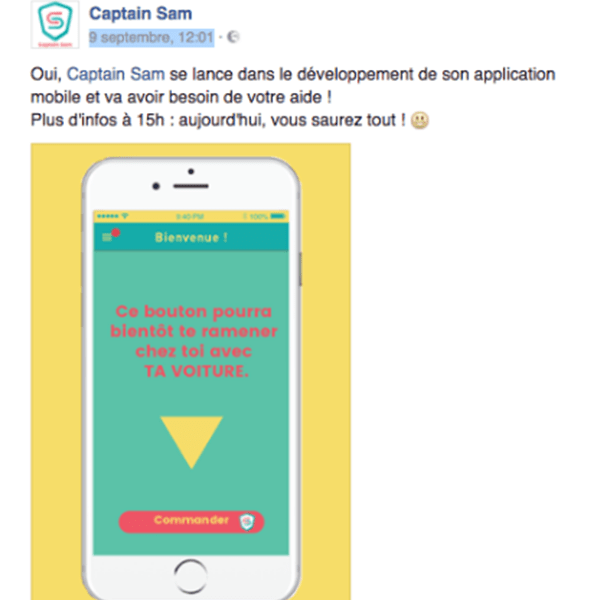 crowdfunding-captain-sam-teasing La stratégie Social Media d'une campagne de crowdfunding