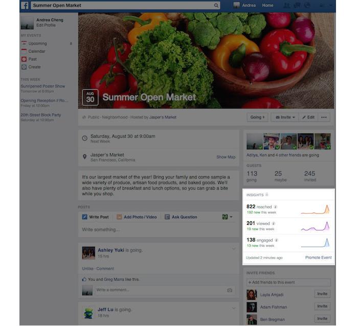 Event-insight-Facebook Nouveaux outils Facebook pour promouvoir vos évènements