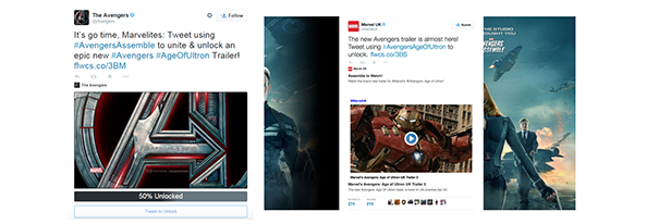 Avengers [Cas pratique] Twitter Cards & secteur de l'entertainment