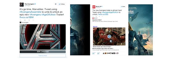 Avengers [Cas pratique] Twitter Cards & secteur de l'entertainment