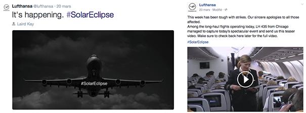 Lufthansa-eclipse [Cas pratique] Les compagnies aériennes sur le Social Media
