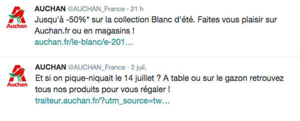 auchan-social-media-twitter-grande-distribution [Cas pratique] La grande distribution sur les réseaux sociaux