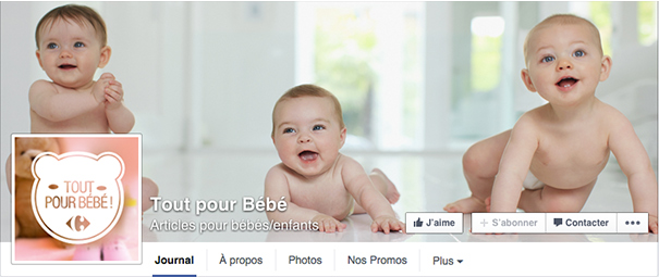 carrefour-bebe-facebook-social-media-grande-distribution [Cas pratique] La grande distribution sur les réseaux sociaux