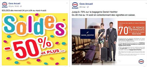 cora-facebook-grande-distribution-social-media [Cas pratique] La grande distribution sur les réseaux sociaux