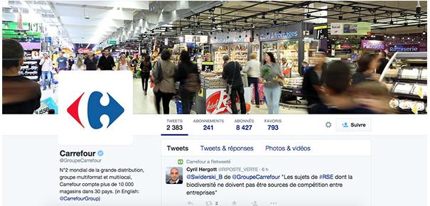 groupe-carrefour-twitter-social-media-grande-distribution [Cas pratique] La grande distribution sur les réseaux sociaux