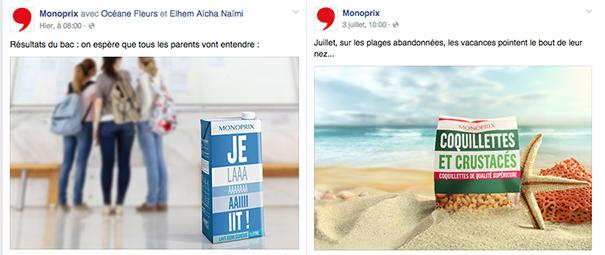monoprix-Facebook-social-media-grande-distribution [Cas pratique] La grande distribution sur les réseaux sociaux