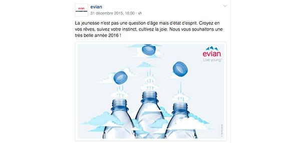 humaniser_reseaux-sociaux_evian Comment humaniser sa marque sur les réseaux sociaux ?