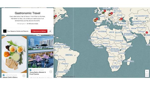 Four-seasons-pinterest-map Exploiter Pinterest dans le secteur du tourisme