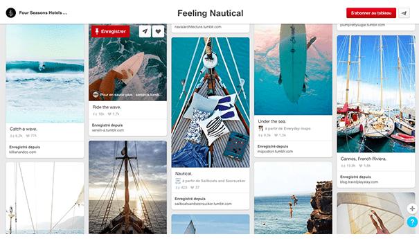 Four-seasons-pinterest-nautical Exploiter Pinterest dans le secteur du tourisme