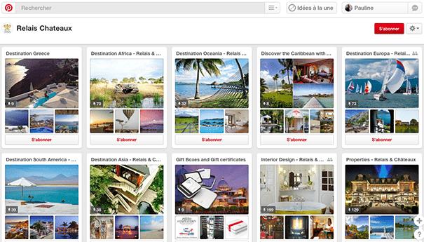 Relais-chateaux-pinterest Exploiter Pinterest dans le secteur du tourisme
