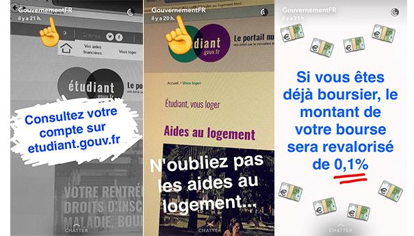 gouvernement-snapchat-social-media La stratégie du gouvernement sur les réseaux sociaux