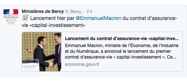 legislation-macron-bercy-twitter La stratégie du gouvernement sur les réseaux sociaux