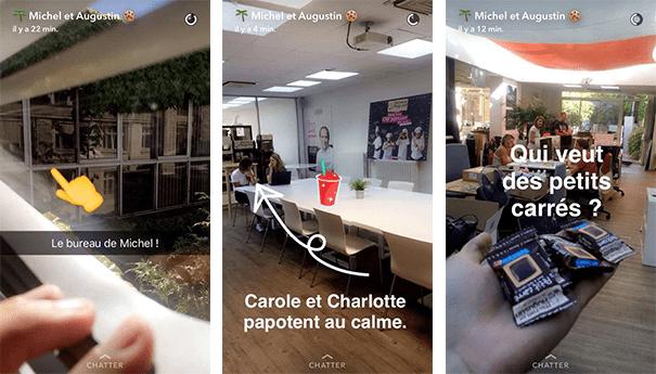 Michelaugustin-locaux-snapchat Les pratiques de Community Management sur Snapchat