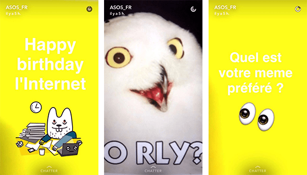 snapchat-asos Les pratiques de Community Management sur Snapchat
