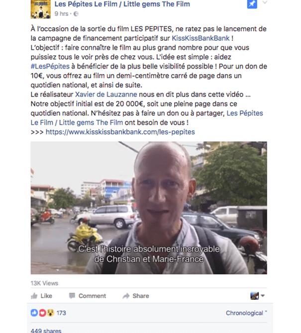 Les-pepites-film-crowdfunding La stratégie Social Media d'une campagne de crowdfunding
