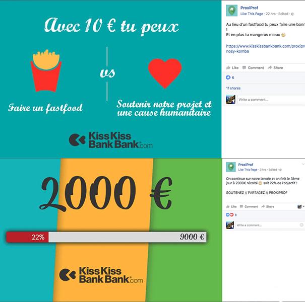 Proxiprof-crowdfunding-kisskissbankbank La stratégie Social Media d'une campagne de crowdfunding