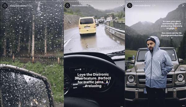 mercedes-story-instagram Les Stories Instagram : valeur ajoutée pour les marques
