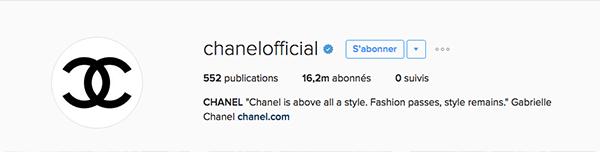 Chanel-instagram-luxe La stratégie social media des marques de luxe