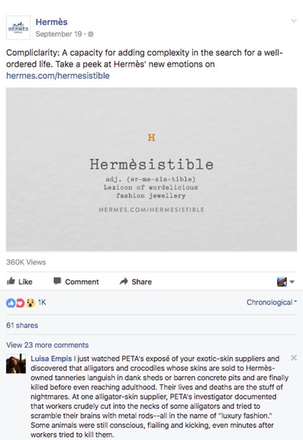 Hermes-luxe La stratégie social media des marques de luxe