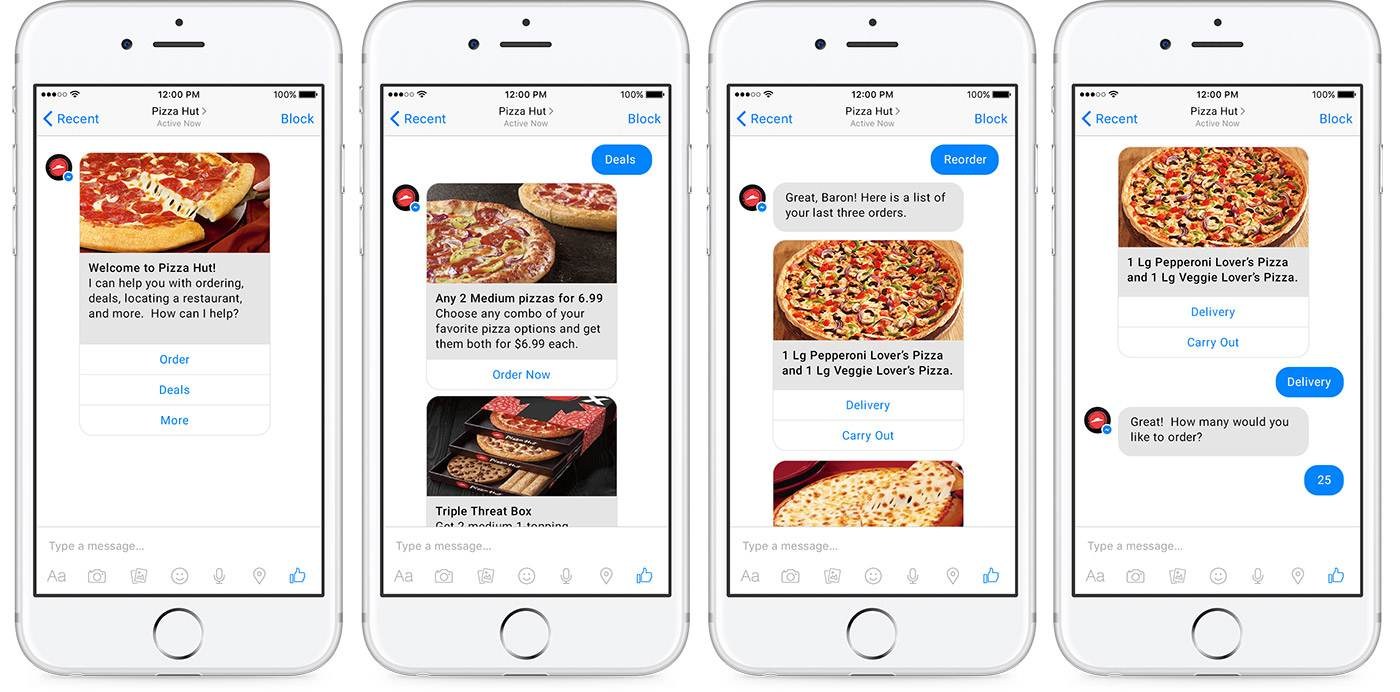 pizza-hut-bot Comment les marques utilisent le bot messenger