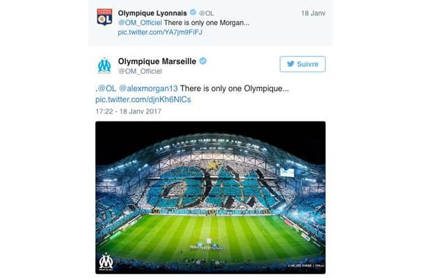 ligue1-alexmorgan-OM Ligue 1 : quand le classement des clubs influe sur la tonalité de leur discours