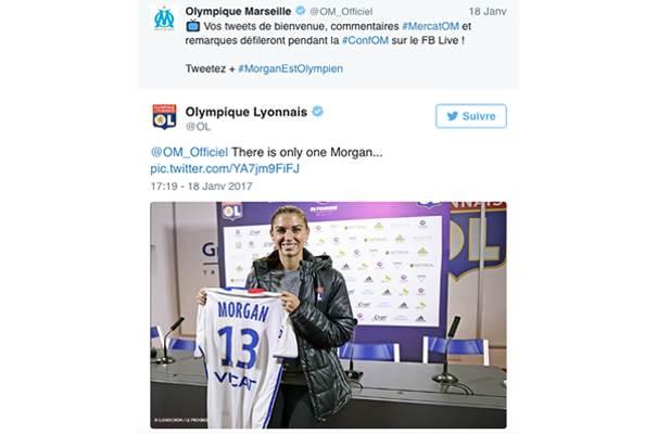 ligue1_alexmorgan Ligue 1 : quand le classement des clubs influe sur la tonalité de leur discours