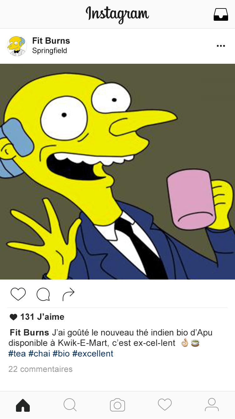 Instagram-Fitburns-3 Restaurer l'image de la centrale nucléaire de Springfield (2/2)