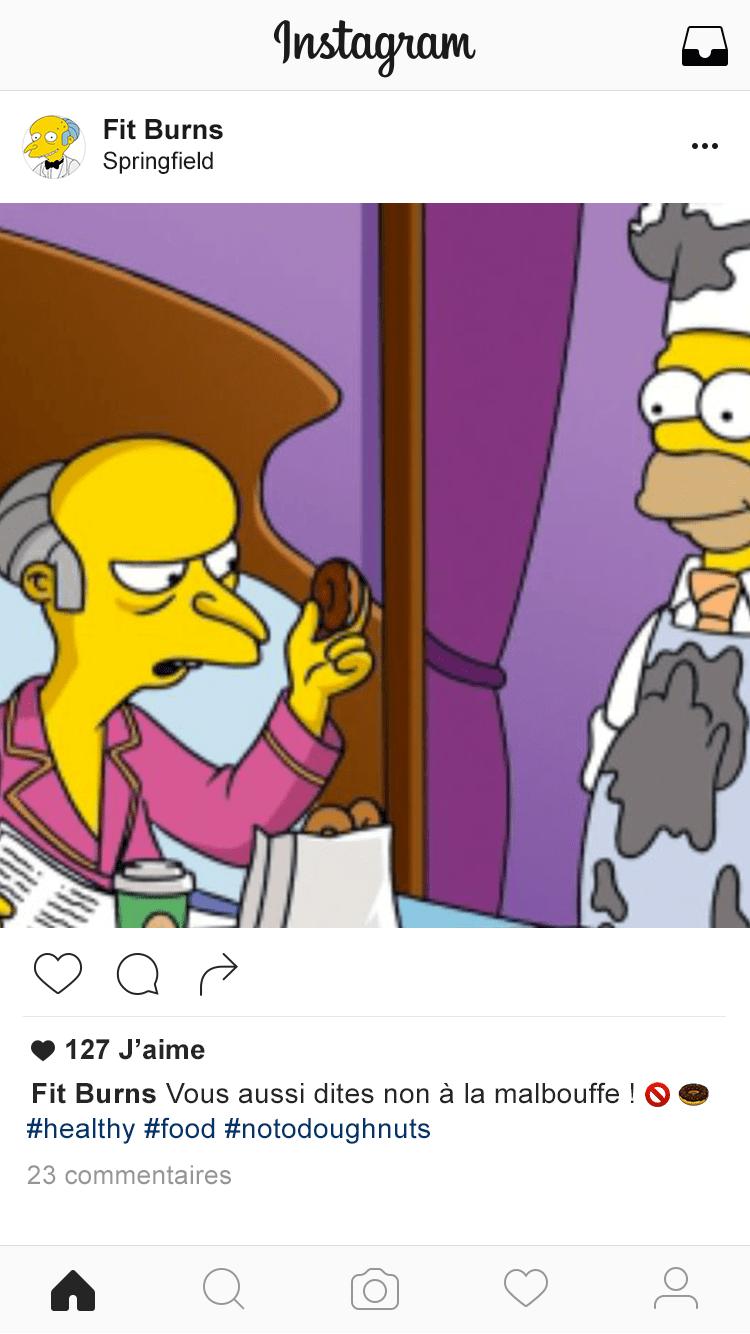 Instagram-Fitburns Restaurer l'image de la centrale nucléaire de Springfield (2/2)