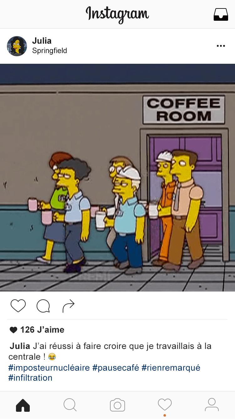 Instagram-Simpsons-Julia Restaurer l'image de la centrale nucléaire de Springfield (1/2)