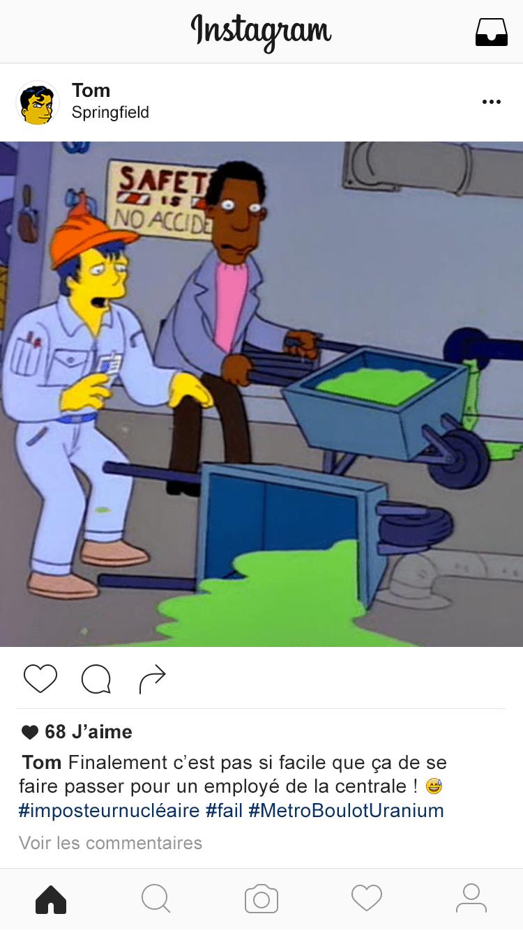 Instagram-Simpsons-Tom Restaurer l'image de la centrale nucléaire de Springfield (1/2)