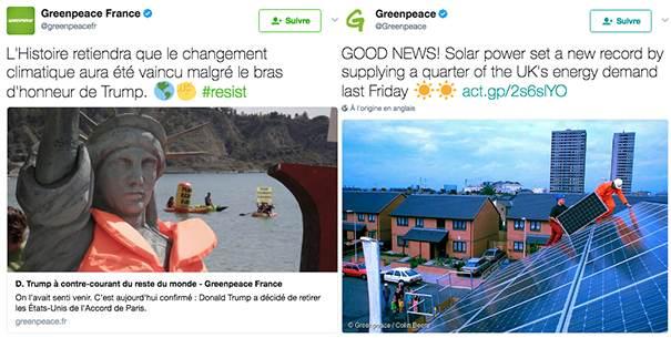 greenpeace La stratégie social media des ONG